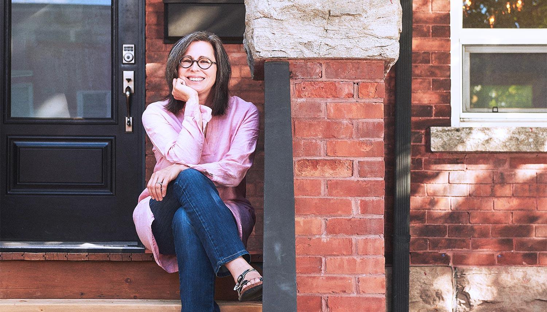 Karen Stiller sitting on Porch